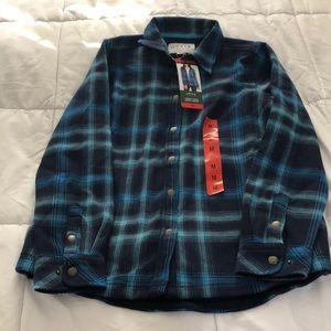 NWT Orvis fleece lined plaid shirt jacket
